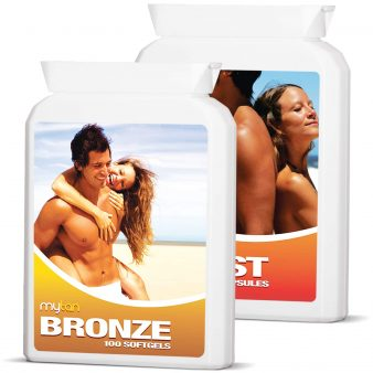 MyTan Boost and Bronze Ultimate Tanning Pills Pack